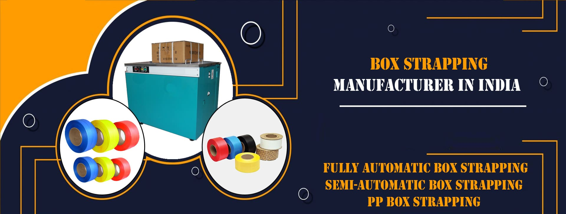 Box Strapping Manufacturer, Supplier and Exporter in Ahmedabad, Gujarat, India